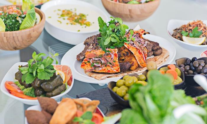 arabisches 3 g nge men restaurant zeder libanesische k che groupon. Black Bedroom Furniture Sets. Home Design Ideas