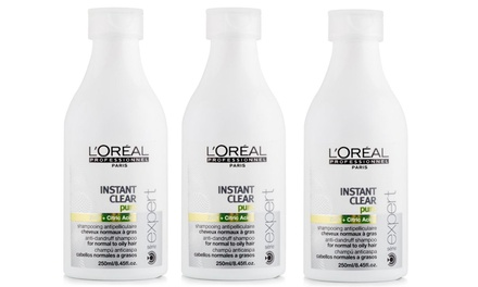 $24 for a ThreePack L'Oréal Serie Expert Instant Clear AntiDandruff Shampoos Don't Pay $78