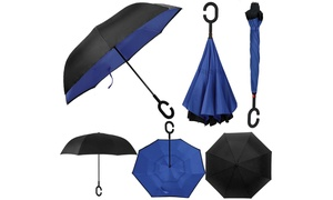 SwissTek Double-Layer Windproof Smart Umbrella with UV Protection