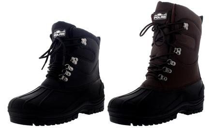 Men's Tall or Short LaceUp Short Winter Snow Boots