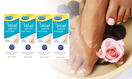 $12 for a FourPack Scholl Velvet Smooth™ Foot Mask Don't Pay $59.96