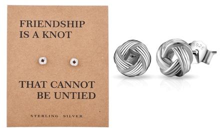 Philip Jones Sterling Silver Quote Earrings