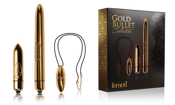 Rocks Off Set of Three Gold Bullet Vibrators (£9.98)
