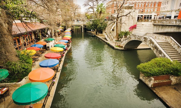 Crowne Plaza San Antonio Riverwalk - Downtown: One- or Two-Night Stay for Two with Two Welcome Drinks at Crowne Plaza San Antonio Riverwalk in San Antonio