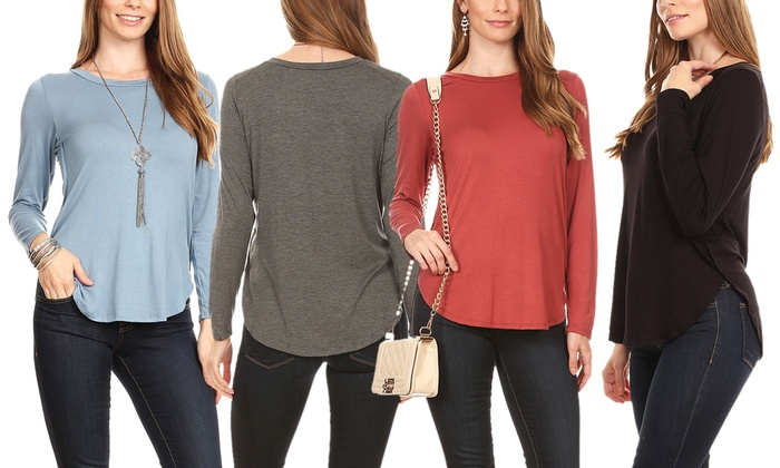 aa3ae12032b Up To 66% Off on Nelly Women s Long-Sleeve Top