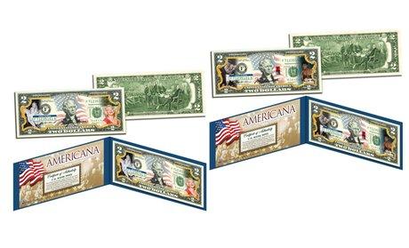 Americana Legal TenderColorized $2 Bills