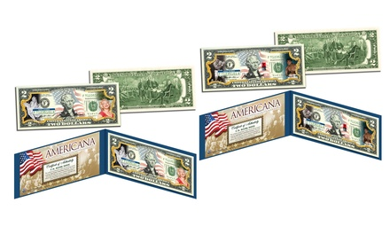 Americana Legal Tender Colorized $2 Bills