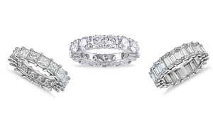 Luxury Cubic Zirconia Eternity Band Collection by Elements Of Love