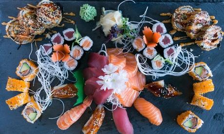 Sushi-Platte mit Vorspeise und Dessert für 2 oder 4 Personen im Hanoi Deli Berlin