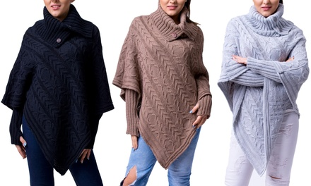 Poncho maille Erin marque Amourelle