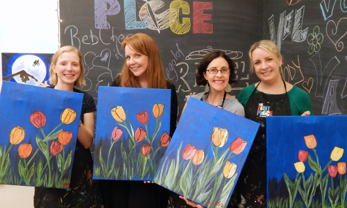 The Paint Place - Upper West Side: Two-Hour BYOB Painting Class for One, Two, or Four Including Supplies at The Paint Place (Up to 47% Off)
