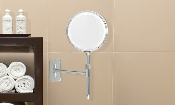 Chrome LED Wall Mount Makeup Mirrors: Chrome LED Wall Mount Makeup Mirrors. Multiple Styles Available. Free Shipping and Returns.