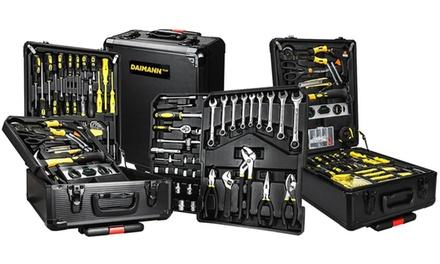 Juego completo de 499 herramientas de trabajo con maletín Daimann