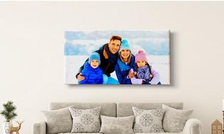 1 o 2 foto lienzos grandes personalizables a elegir con PrinterPix (hasta 70% de descuento)