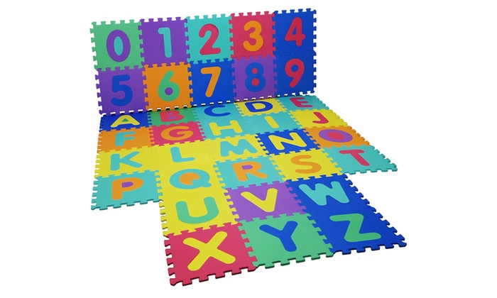 One or Two Kids' Foam ABC Puzzle Floor Mats from £6.98