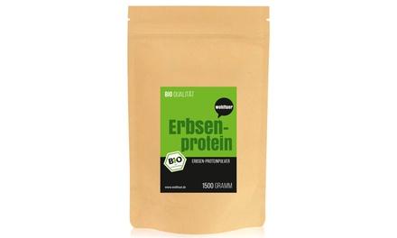 1x oder 2x Wohltuer Bio Erbsenprotein 1500 g für Kraftsportler oder zur Beschleunigung der Gewichtsabnahme  (Hamburg)