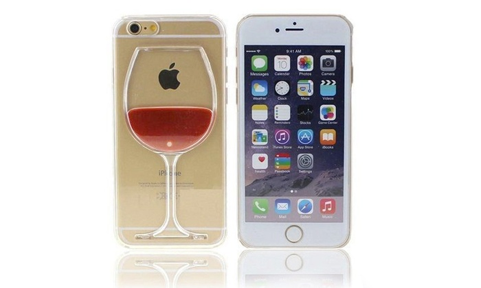 online store 907e0 b219f Wine Glass Case for iPhone | Groupon Goods