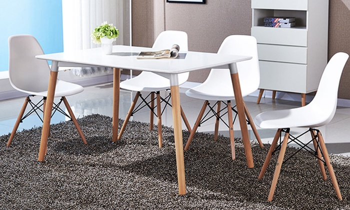 Superb Up To 45 Off On Dining Chairs 4 Pack Groupon Goods Ibusinesslaw Wood Chair Design Ideas Ibusinesslaworg