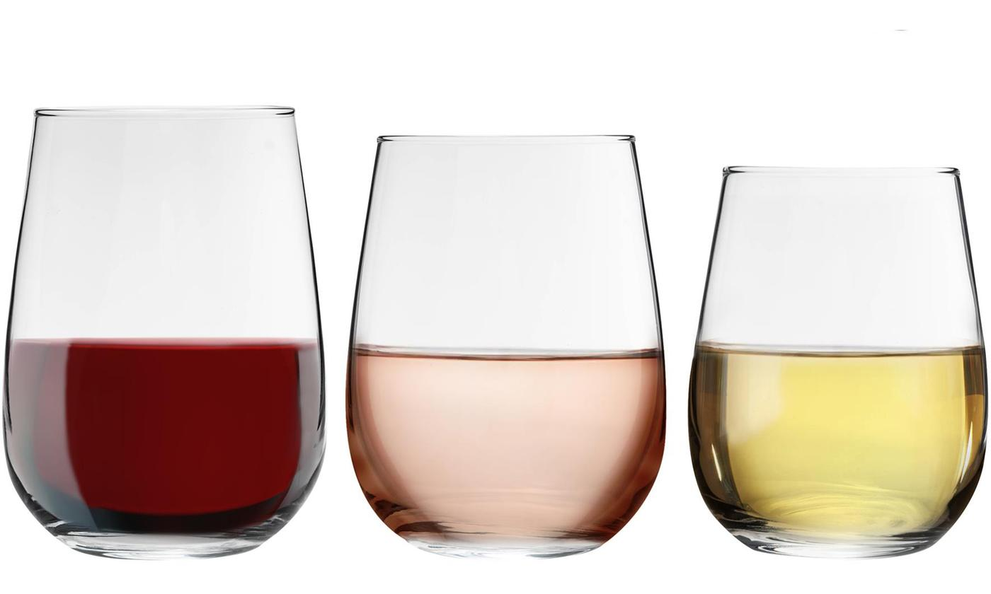 Up to 24 Stemless Wine Glasses in Choice of Size