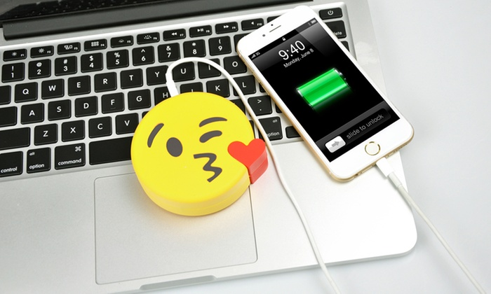 Groupon Goods Global GmbH: Emoji Power Banks in Choice of Design for £8.99 (74% Off)