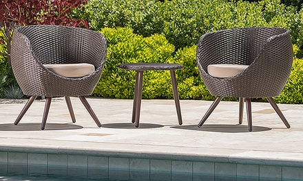 Wiley Outdoor Wicker Table and Chair Set (3-Piece)
