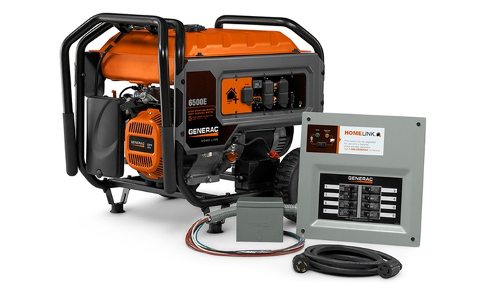 Generac Homelink Portable Generator with Upgradeable Transfer Switch | Groupon