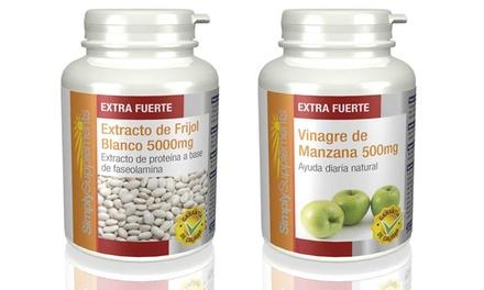 Trat. para la pérdida de peso con 'vinagre de manzana' y 'extracto de frijol blanco' por 19,90 € (48% de descuento)