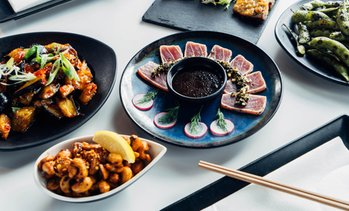 Unlimited Asian Tapas & Sushi with Optional Bottomless Wine or Beer