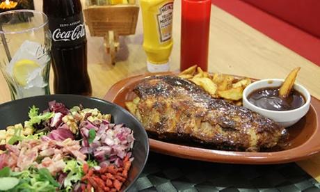 Menú para 2 o 4 con entrante, principal, postre y bebida con opción a costillas BBQ desde 17,95 € en Charlys Tastes