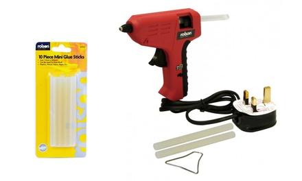 Rolson Mini Glue Gun with Glue Sticks or Ten Glue Sticks
