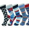 Alpine Swiss Men's Cotton Multicolor Dress Socks (6-Pack)