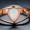 Fire Opal & 18K Rose Gold Plating Ring by Gembassy