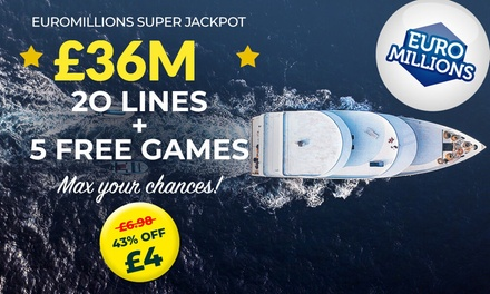 groupon.co.uk - 20 or 60 Syndicated EuroMillions Lines, Millionaire Makers and Instant Win Games at Lotto Social