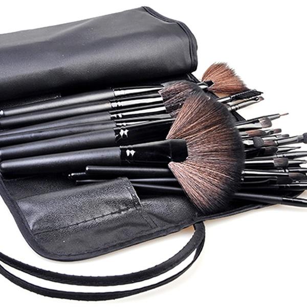 Hair Brush Makeup Bag Gift From Son Christmas Gifts Makeup Organiser Leather Brush Case Vegan Gift For Wife Makeup Brushes