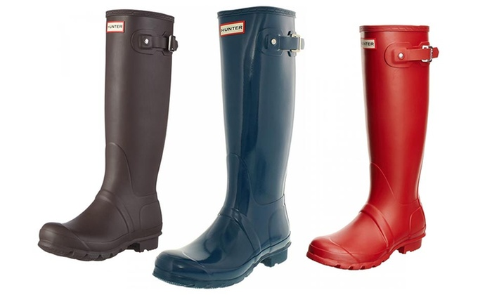 Hunter Womens' Rain Boots | Groupon
