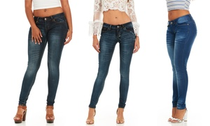 Cover Girl Women's Skinny Jeans. Plus Sizes Available.