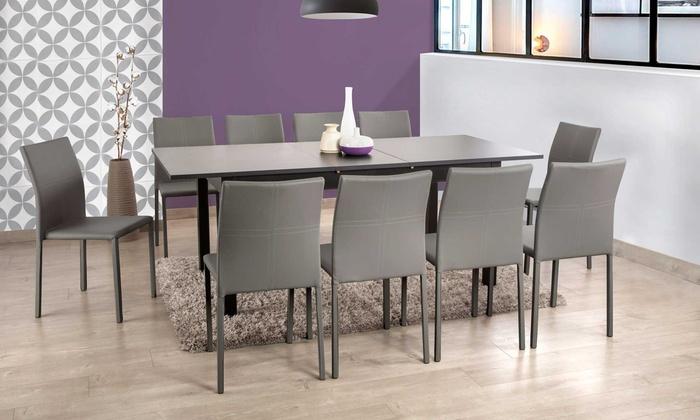table extensible avec allonge groupon shopping. Black Bedroom Furniture Sets. Home Design Ideas