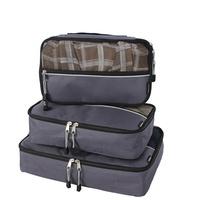 Groupon.com deals on Verdi Packing Cube Organizer Set with Zipper Pockets (3-Piece)