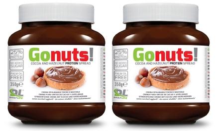 Fino a 12 creme proteiche Daily Life Gonuts da 350 g spalmabili e gusto al cacao e alle nocciole