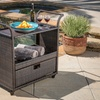 Castenada Outdoor Wicker Bar Cart