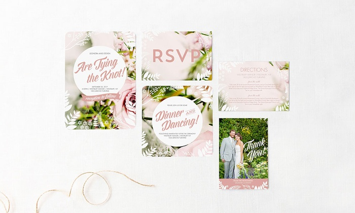 mixbook 100 150 or 200 wedding invitations save the dates - Groupon Wedding Invitations