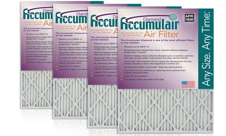 Accumulair Diamond Air Filter 4-Pack from $27.99-$29.99