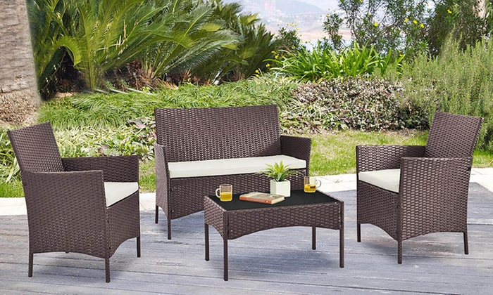 gartenm bel set aus polyrattan groupon. Black Bedroom Furniture Sets. Home Design Ideas