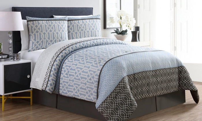 cb6360b51bbdf Bed-in-a-Bag Set with Sheets (6- or 8-Piece)