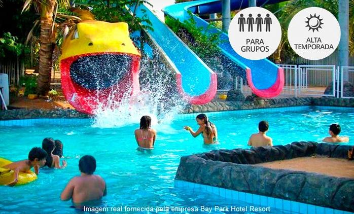 Brasília: day use para 1, 2, 3, 5, 8, 10 ou 20 pessoas no Bay Park Aquapark