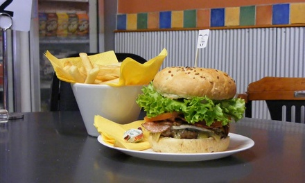 Burger and Fries for One $10, Two $15 or Four People $29 at Bilby's Chargrilled Burgers Up to $60.40 Value