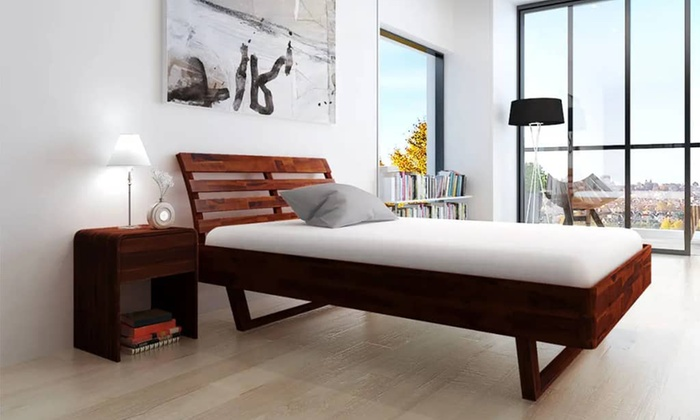 Solid Acacia Wood Bed Frame