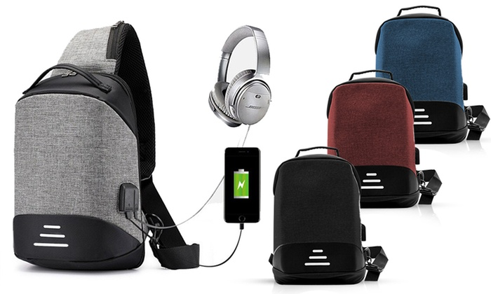 One or Two Aquarius Small Anti-Theft Backpacks with Optional Lightning® Connector Cable