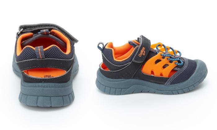 Boys Shoes Oshkosh B/'gosh Blue Bump Toe Sandal or Brown Walking Shoe New