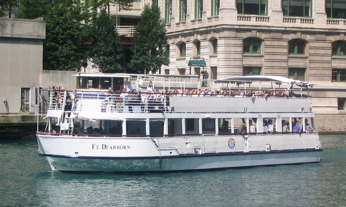 90-Minute Architectural Boat Tour for Two from Chicago Line Cruises (Up to 27% Off). Two Options Available